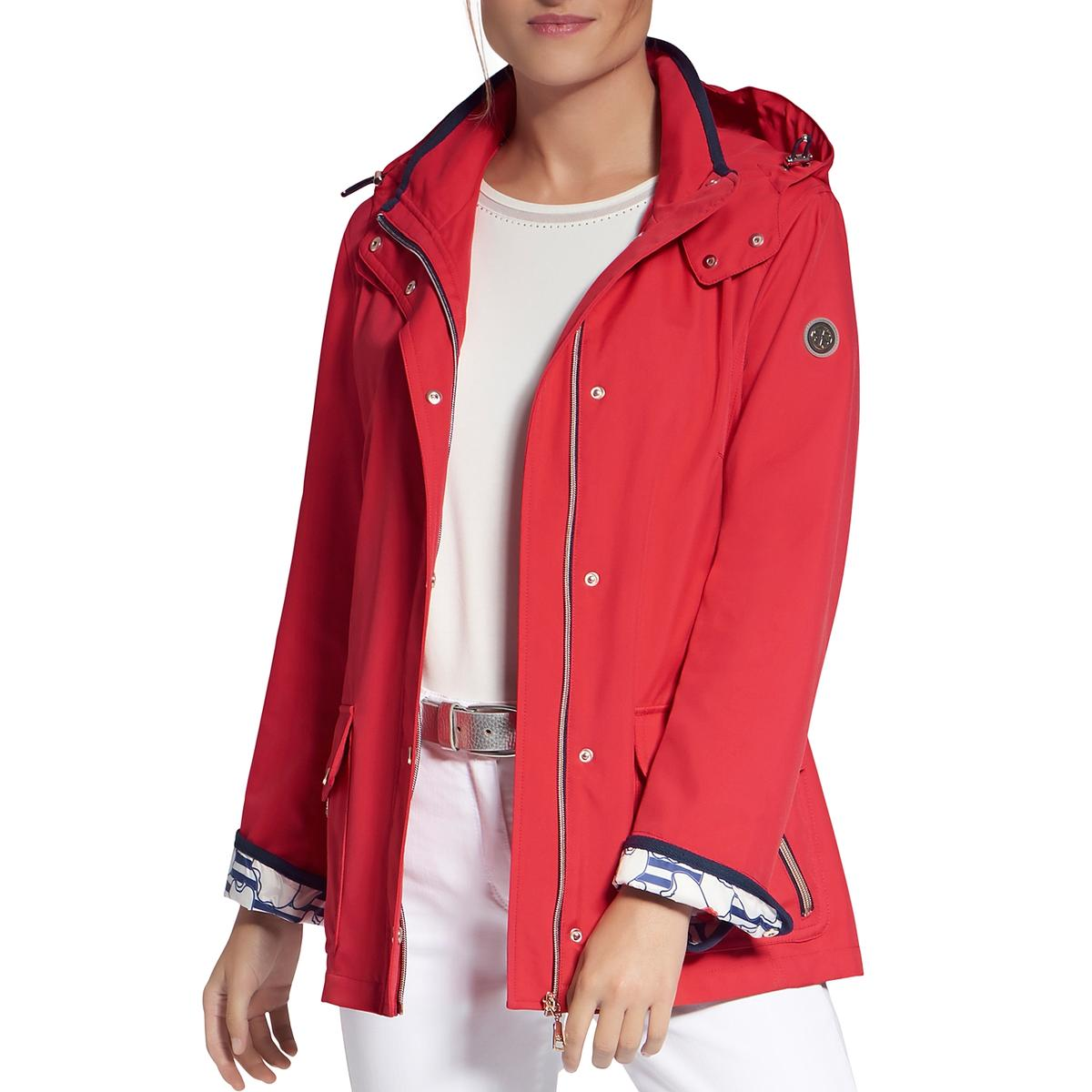 Basler Womens Fall Water Repllent Hooded Anorak Jacket Outerwear Plus BHFO 6733