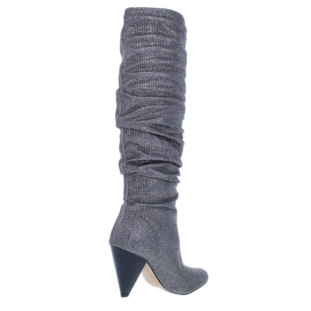 INC Womens Gerii 3 Embellished Slouchy Fashion Knee-High Boots Shoes BHFO 0642