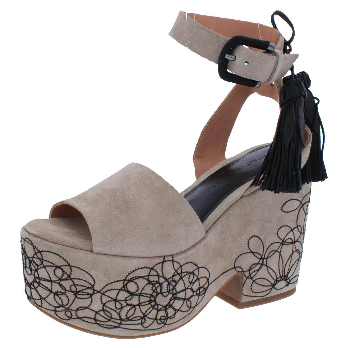 3f2a7aa9c130 Details about Sigerson Morrison Womens Beia Taupe Platform Sandals 6 Medium  (B