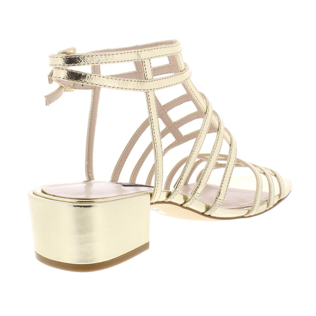 Nine-West-Womens-Xerxes-Leather-Block-Heel-Gladiator-Sandals-Shoes-BHFO-5968 thumbnail 8