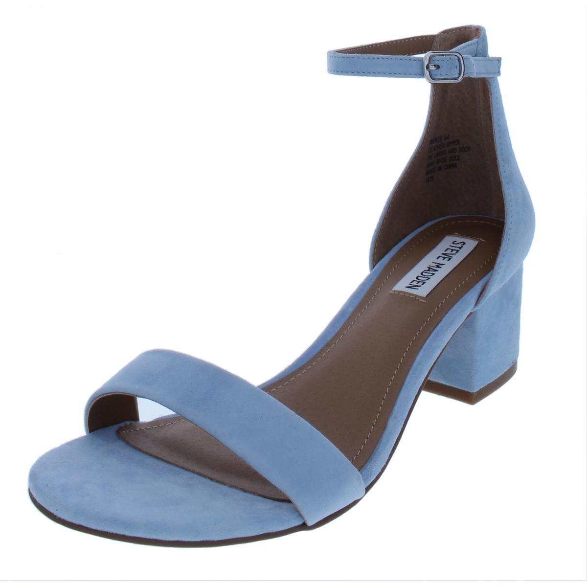 adb5b6f317e Details about Steve Madden Womens Irenee Blue Dress Sandals Heels 6 Medium  (B