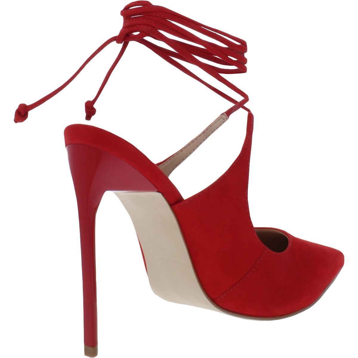 Steve-Madden-Womens-Raven-Nubuck-Ankle-Wrap-Shoes-Mules-Heels-BHFO-1622 thumbnail 6