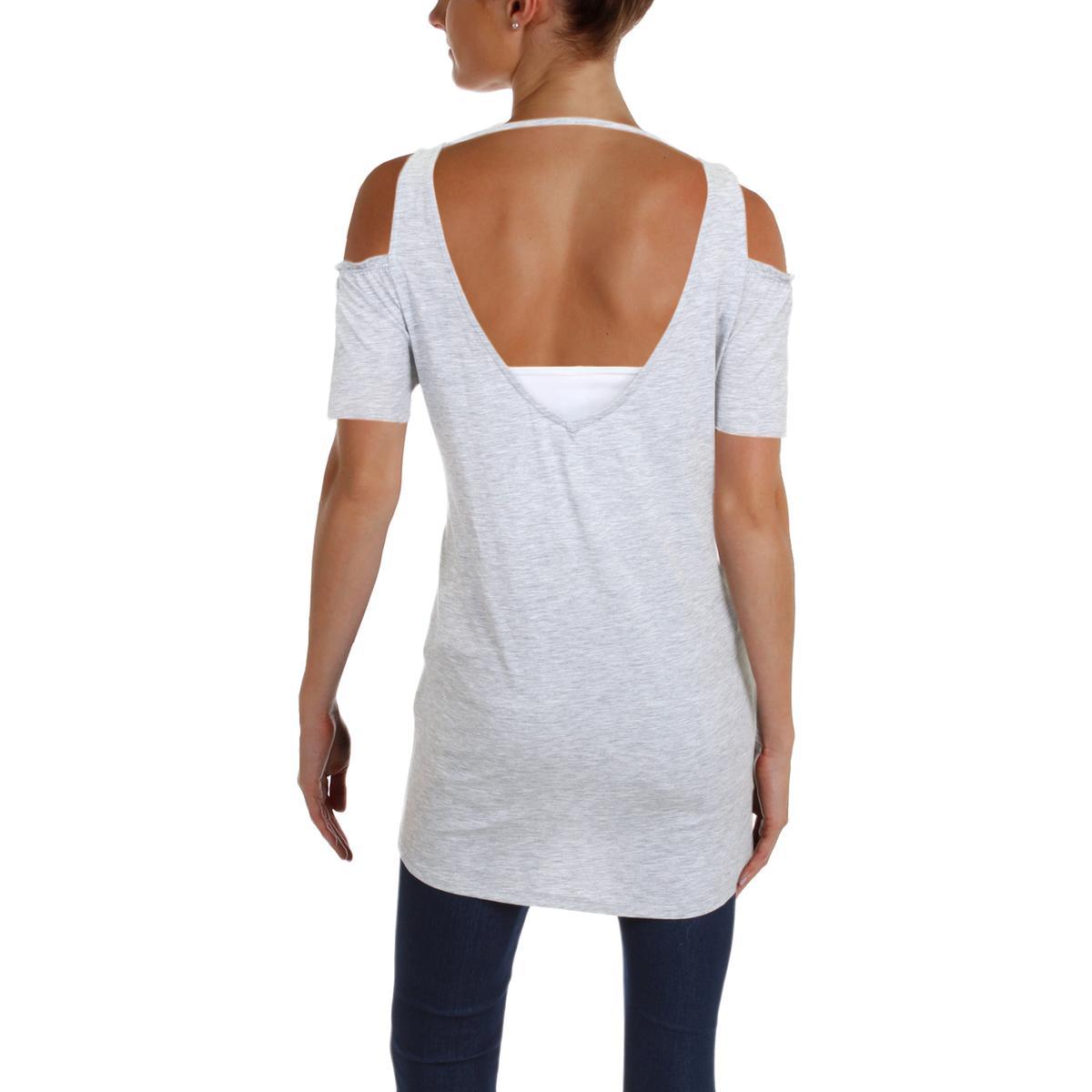231e29b4 Buy Women Medium Nanette Lepore Grey Short Sleeve Longer Tunic ...