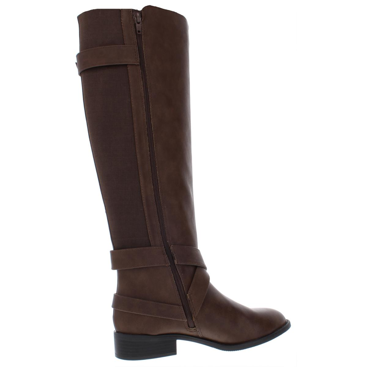 Thalia Sodi Womens Vada Faux Leather Over-The-Knee Riding Boots Shoes BHFO 7288