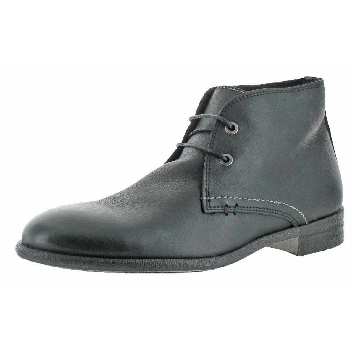Robert Wayne Mens Wisconsin Black Chukka Boots Shoes 10.5 Medium (D) BHFO 9021