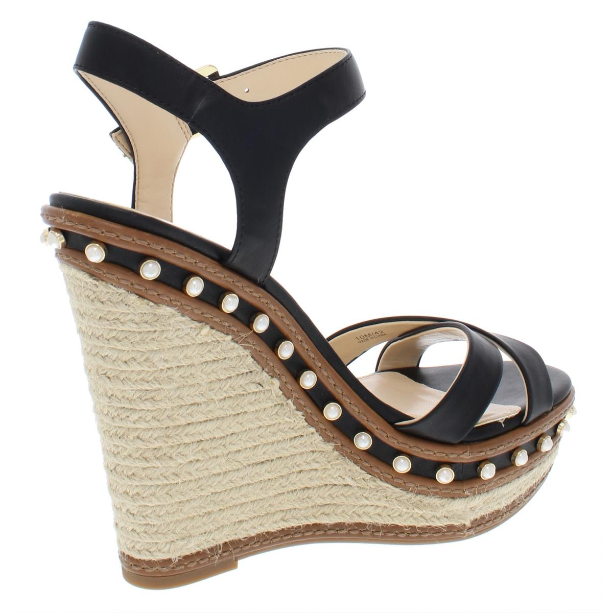 Jessica-Simpson-Womens-Aeralin-Leather-Espadrilles-Wedges-Shoes-BHFO-6006 thumbnail 4