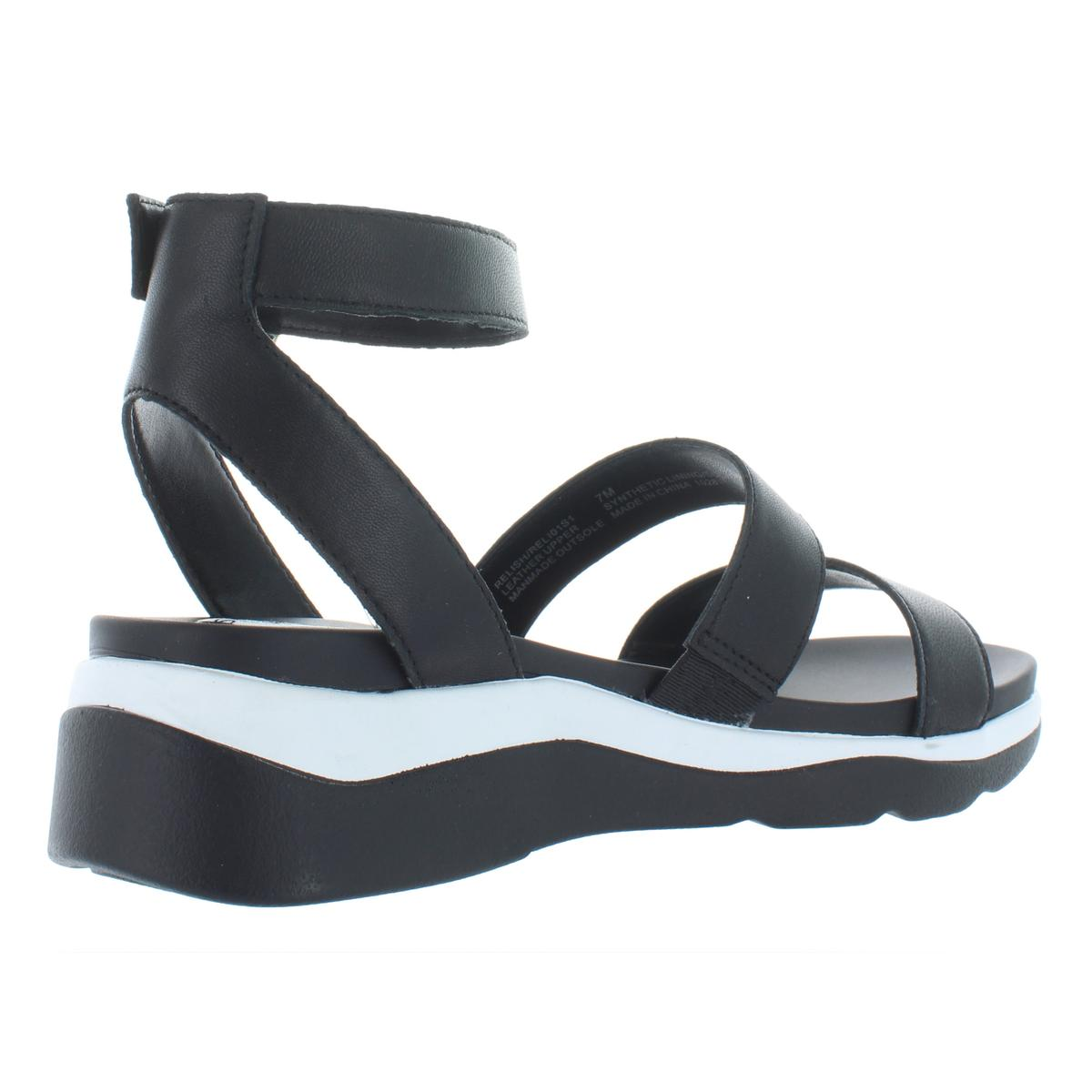 Steve-Madden-Womens-Relish-Leather-Wedge-Strappy-Sport-Sandals-Shoes-BHFO-6808 thumbnail 4