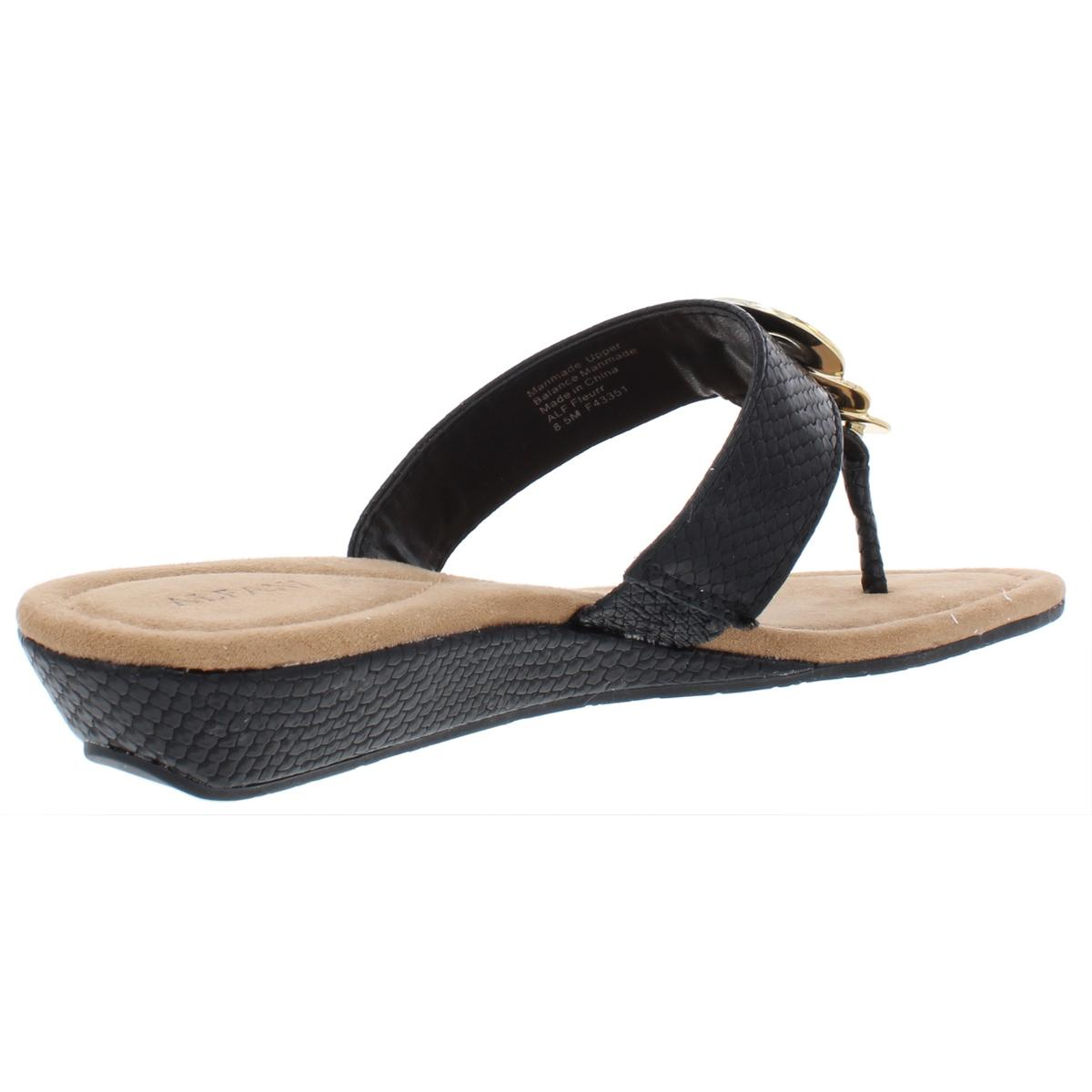 Alfani-Womens-Fleurr-Faux-Leather-Padded-Insole-Wedge-Sandals-Shoes-BHFO-6592 thumbnail 4