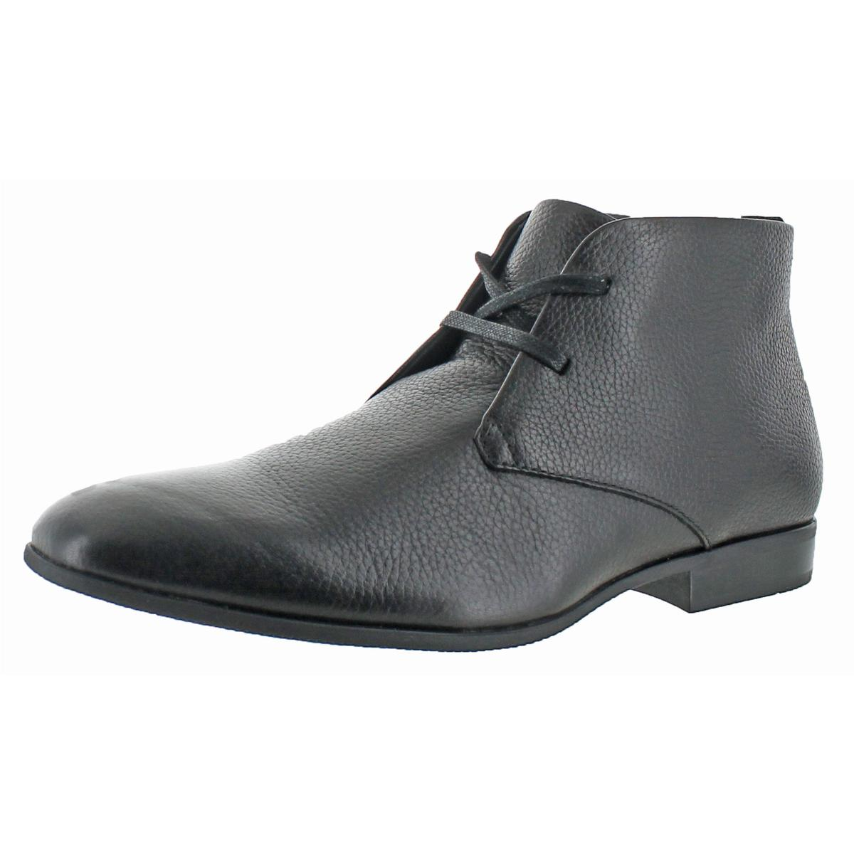 Calvin Klein Mens Carmichael Black Chukka Boots Shoes 8 Medium (D) BHFO 6609
