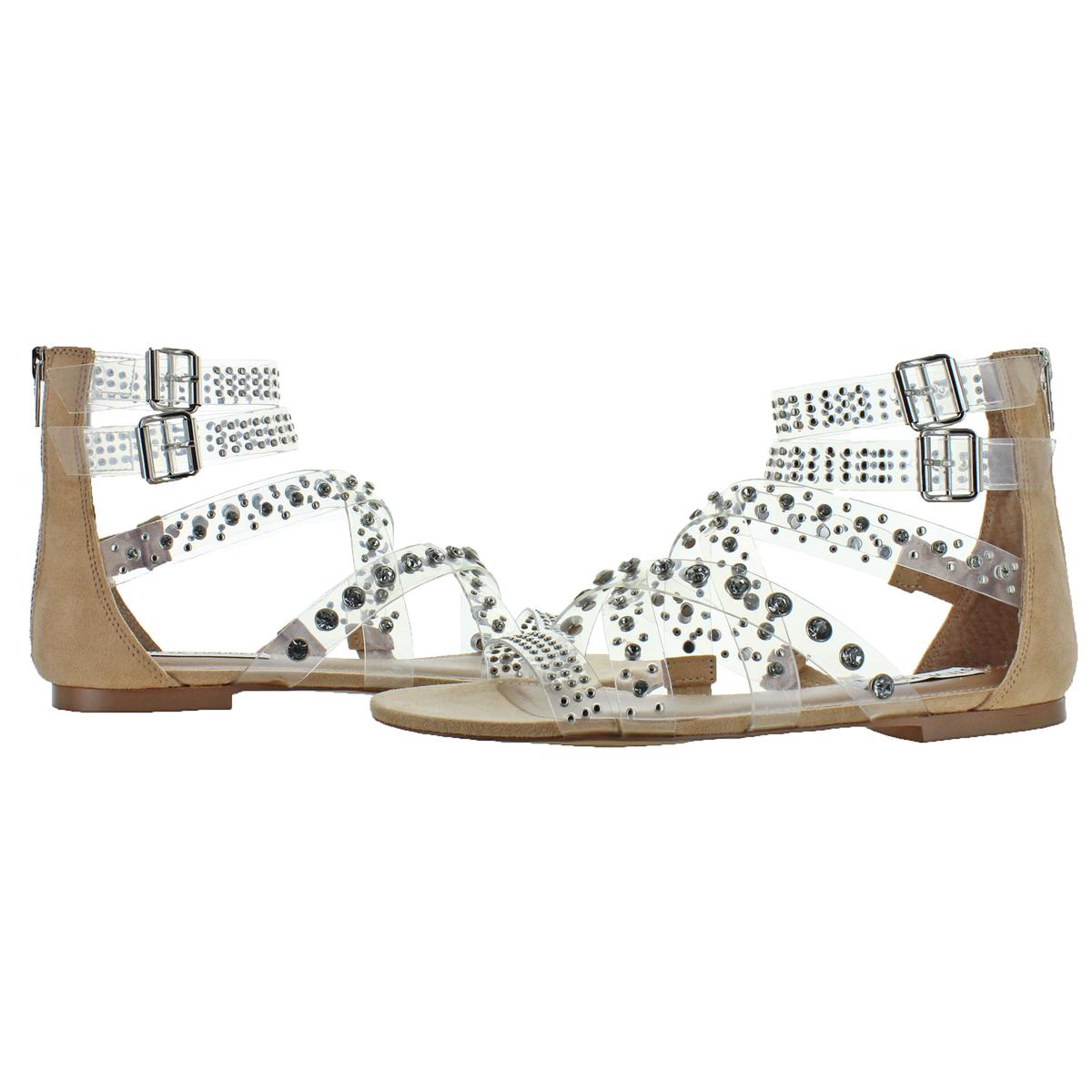 Steve-Madden-Women-039-s-Shift-Embellished-Multi-Strap-Flat-Gladiator-Sandals thumbnail 7