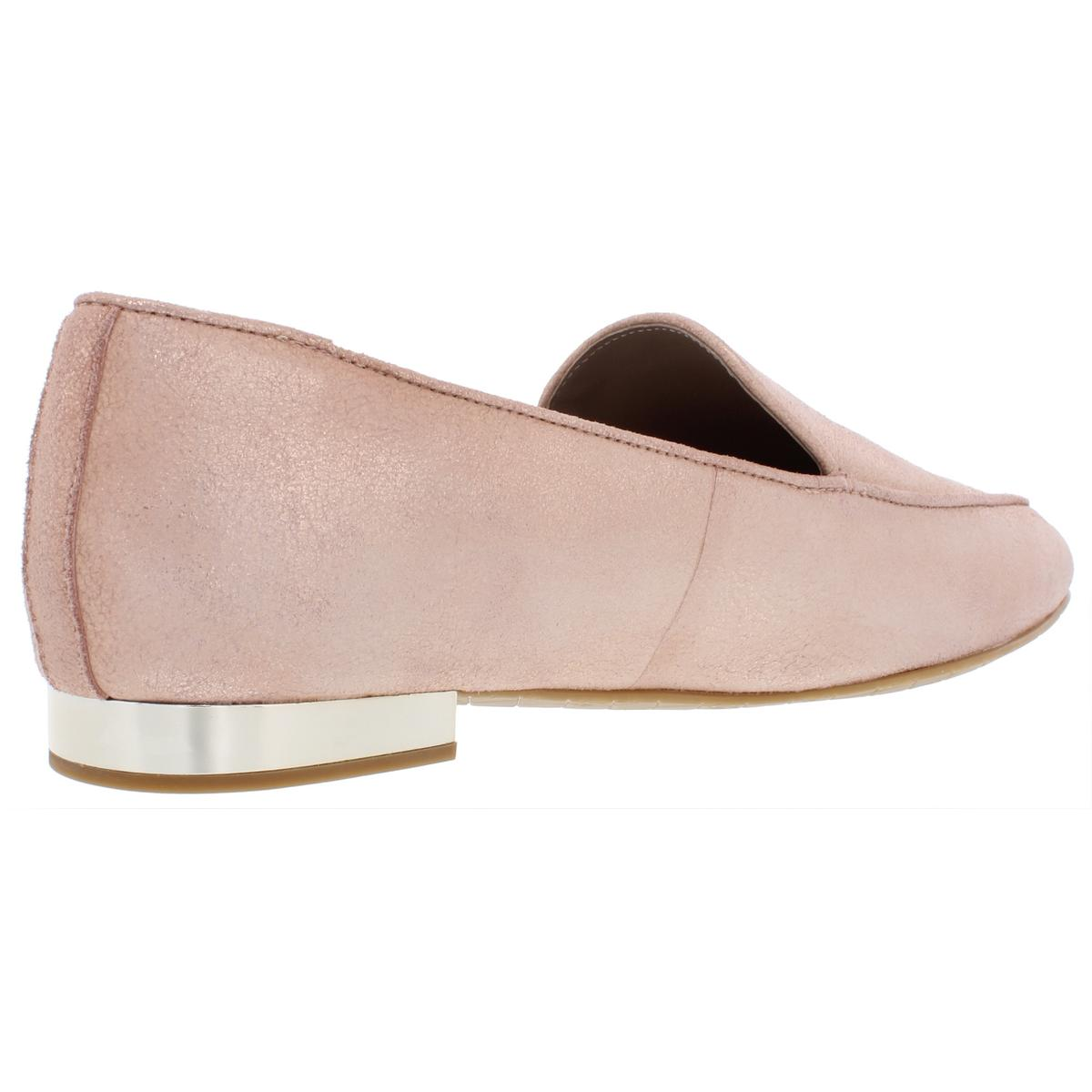 Donald-J-Pliner-Womens-Honey-Suede-Slip-On-Distressed-Loafers-Shoes-BHFO-7808 thumbnail 4