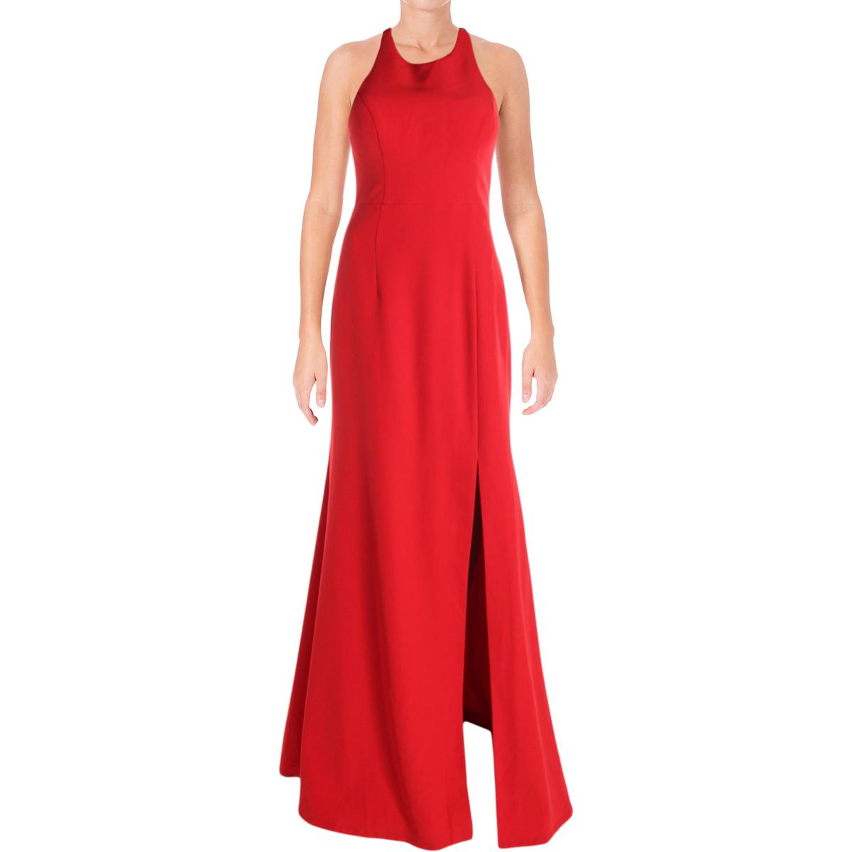 0e260bf30bb Details about Bariano Womens Red Halter Special Occasion Evening Dress Gown  M BHFO 3636