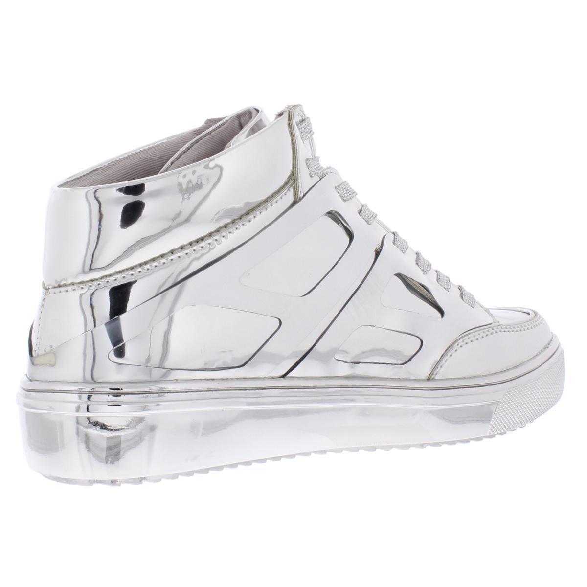 Steve-Madden-Womens-Tinman-2-Metallic-High-Top-Fashion-Sneakers-Shoes-BHFO-9056 thumbnail 6