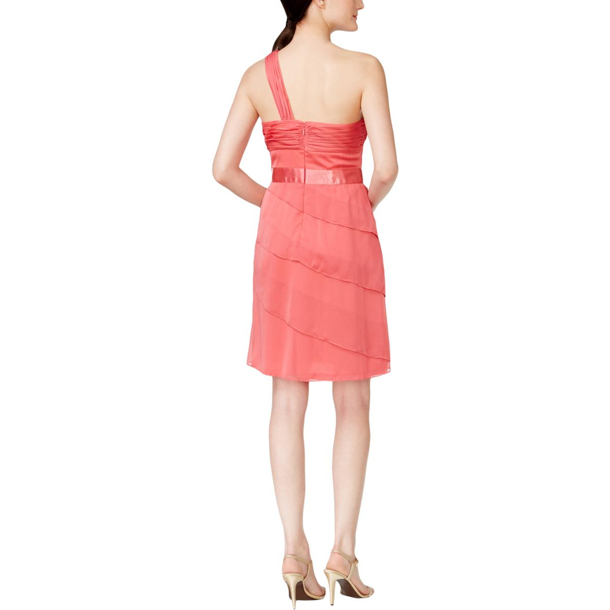 Adrianna-Papell-Womens-Tiered-One-Shoulder-Party-Cocktail-Dress-BHFO-6662 thumbnail 17