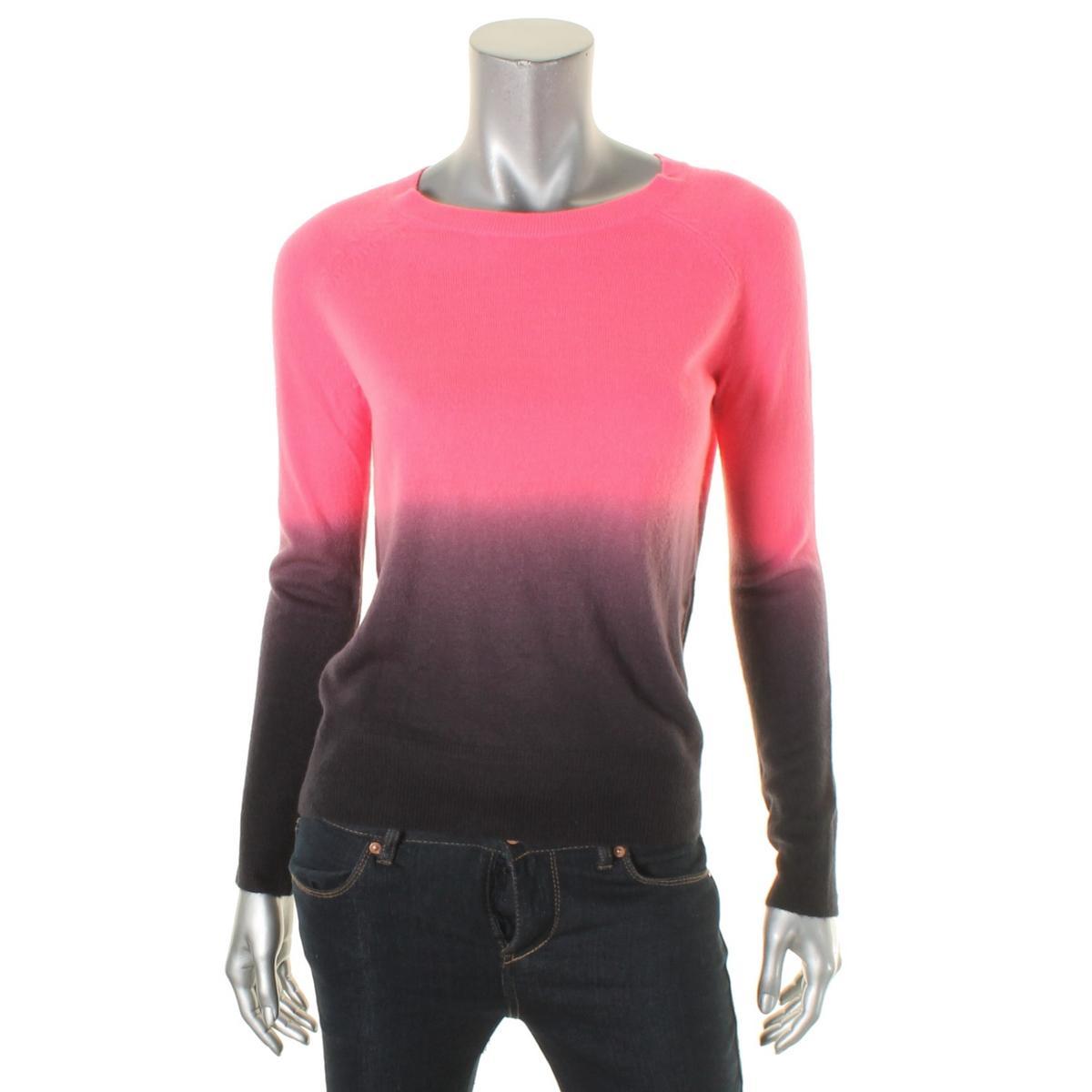 Aqua 1730 Womens Knit Dip-Dye Crew Neck Sweater Top BHFO | eBay