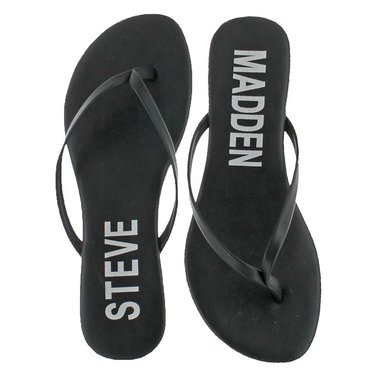 Steve-Madden-Women-039-s-Blink-Slip-On-Casual-Thong-Flat-Sandals-Shoes thumbnail 4