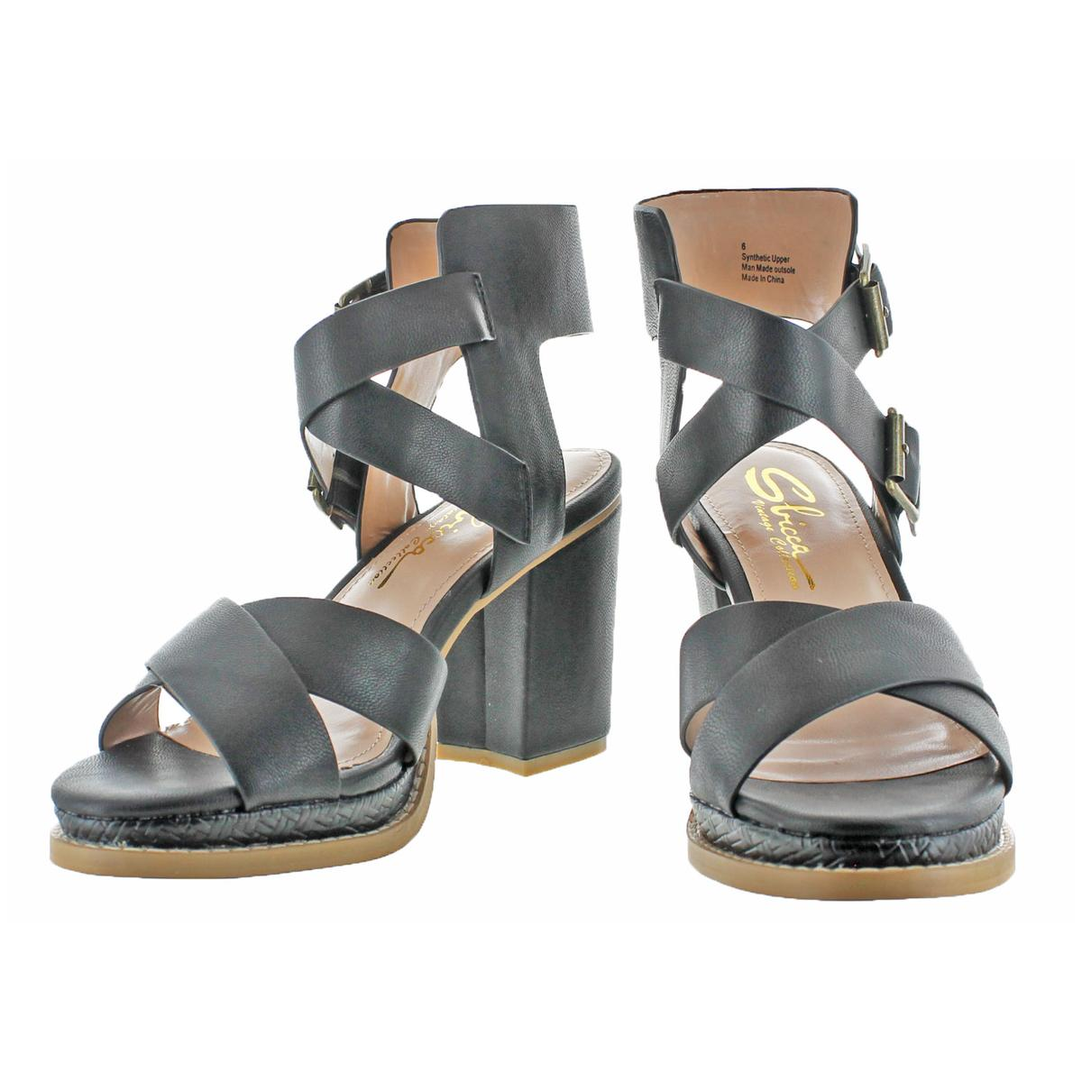 Women/'s Naturalizer CAMEREN G1024S1001 Black Strappy Buckle Heeled Sandal Shoes