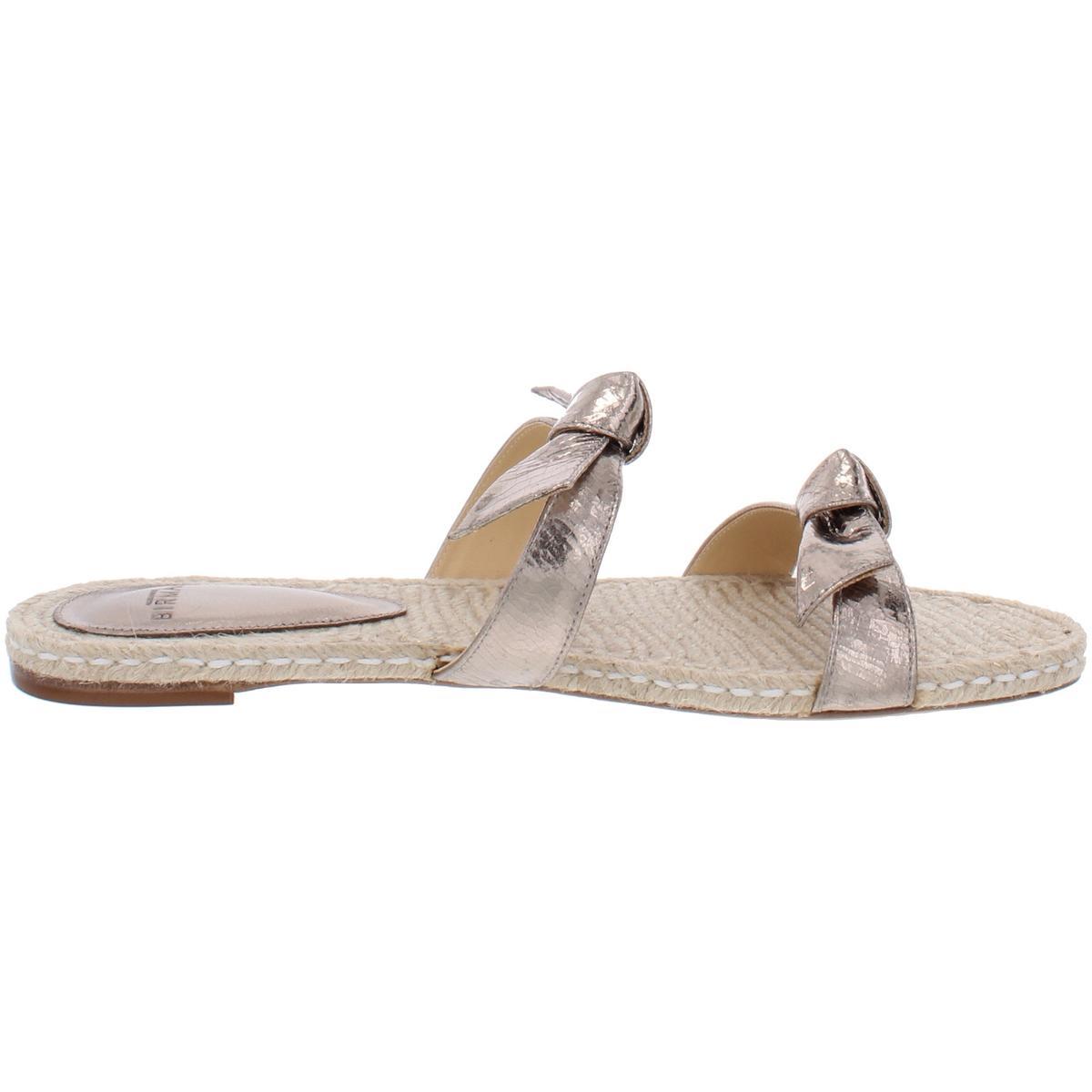 thumbnail 8 - Alexandre Birman Womens Clarita Leather Flats Slide Sandals Shoes BHFO 6244
