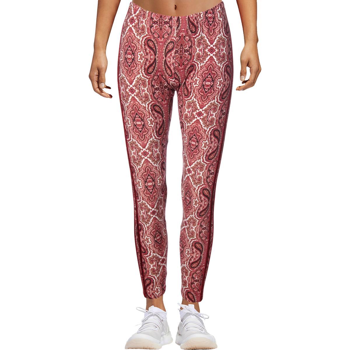 36e52fe2084198 Details about Ultra Flirt Womens Pink Velvet Trim Printed Ankle Leggings  Juniors M BHFO 1776