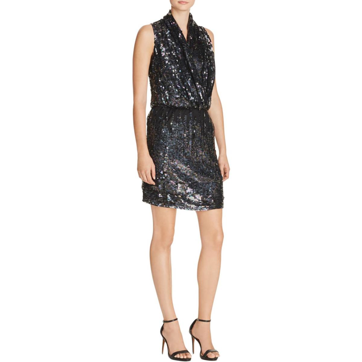 193a068b Details about Parker Womens Lysette Party Sequined Mini Cocktail Dress BHFO  0096