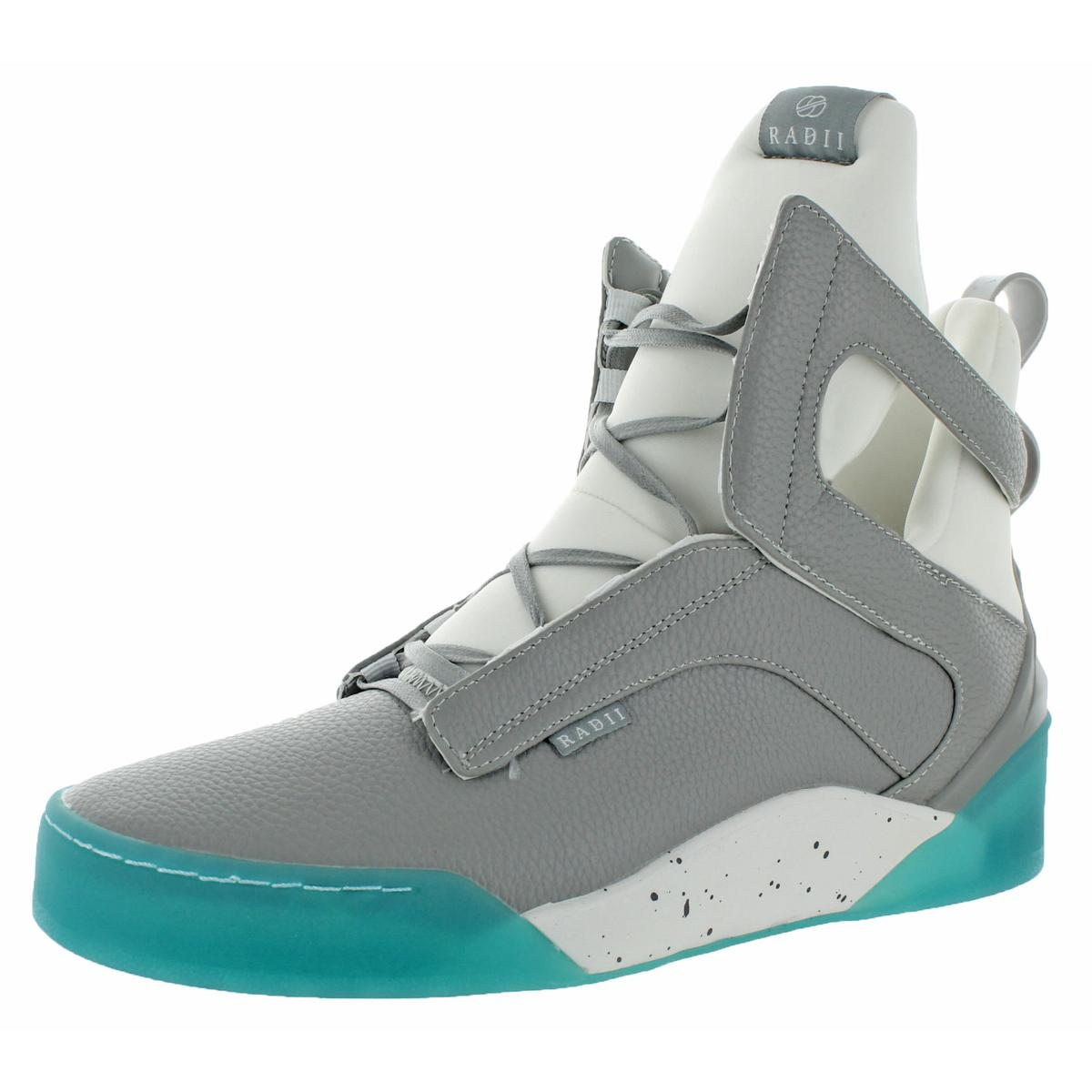 Radii Mens Prism Gray High Top Fashion Sneakers Shoes 11 Medium (D) BHFO 2726