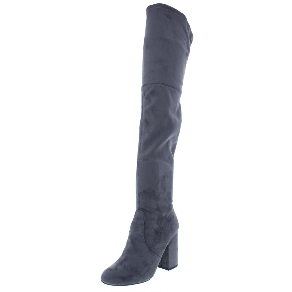 Steve-Madden-Womens-Norri-Stretch-Tall-Block-Thigh-High-Boots-Shoes-BHFO-9928