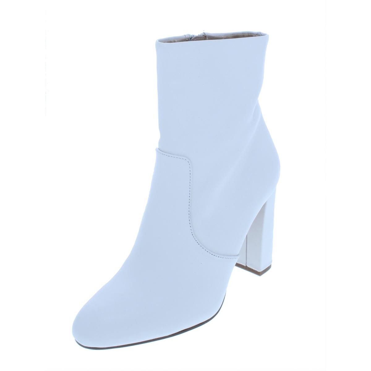 8ce380424ae Details about Steve Madden Womens Editor Leather Block Heel Almond Toe  Booties Shoes BHFO 7044