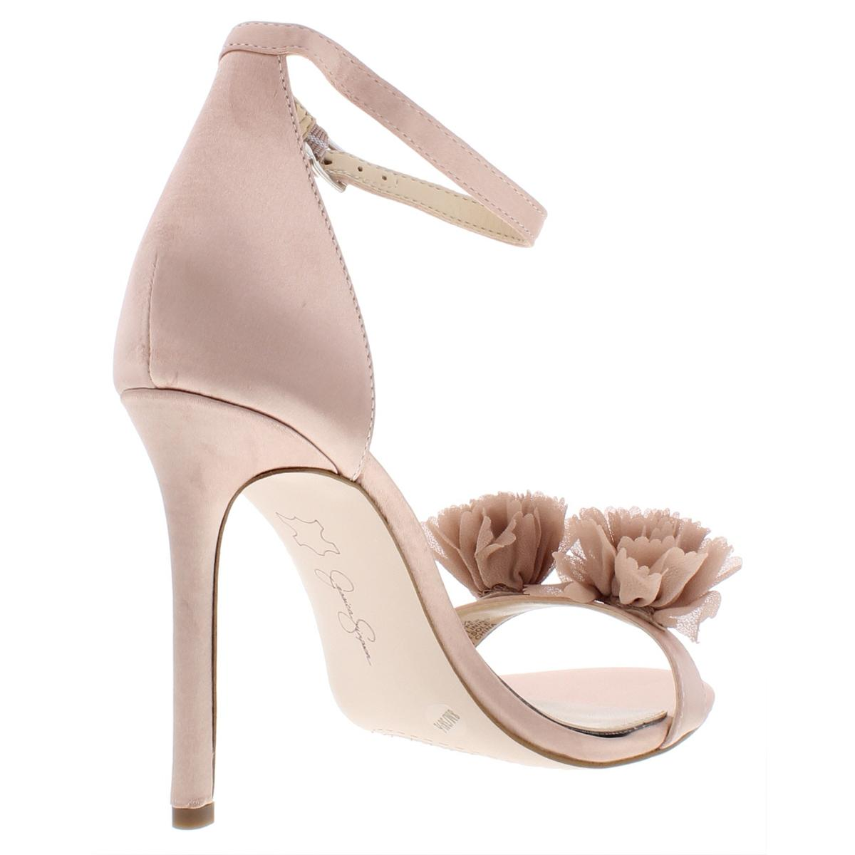 Jessica-Simpson-Womens-Jeena-Satin-Stiletto-Flower-Dress-Sandals-Shoes-BHFO-6759 thumbnail 4