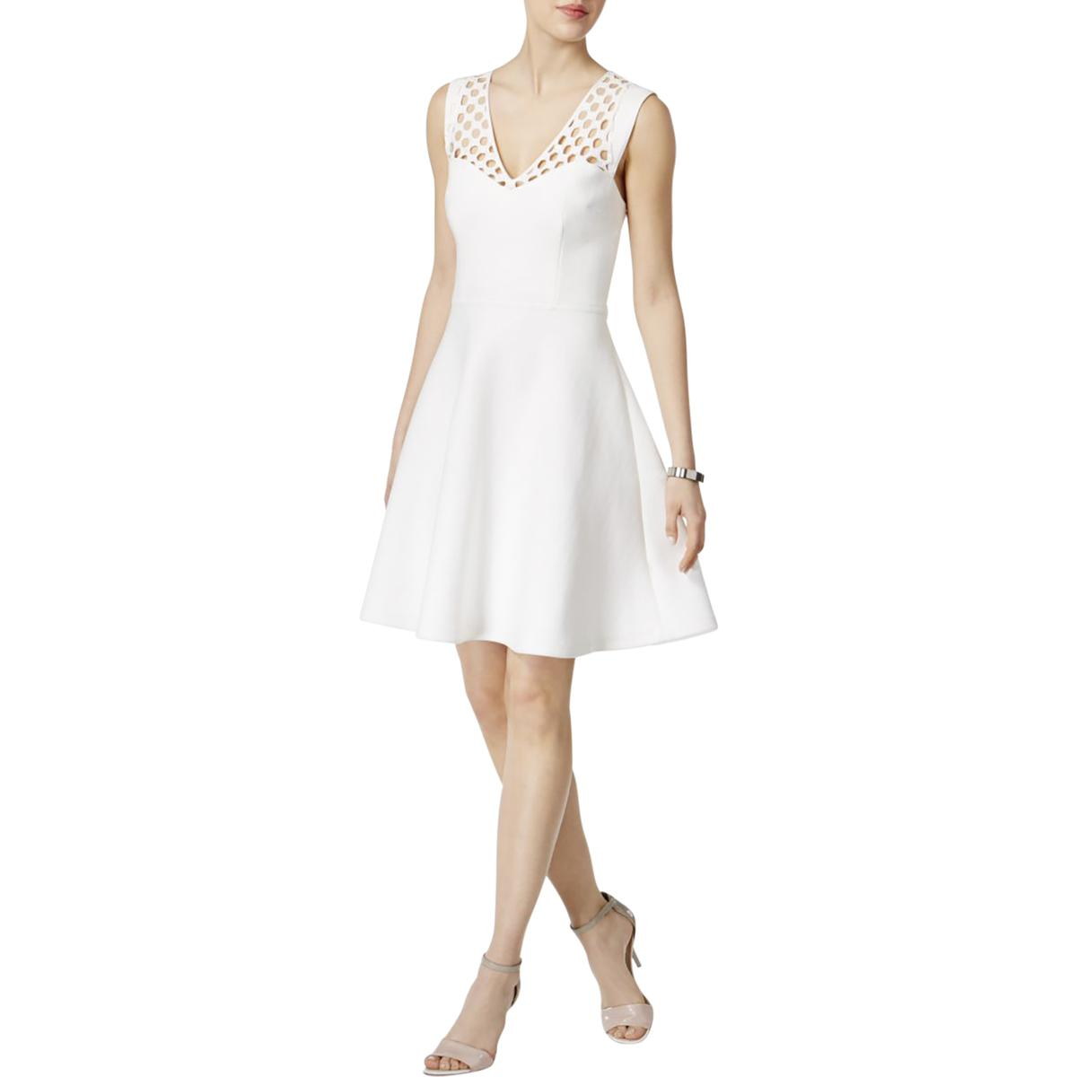 d8f444925c1 Details about Betsey Johnson Womens Ivory Party Sleeveless Cocktail Dress 8  BHFO 2075