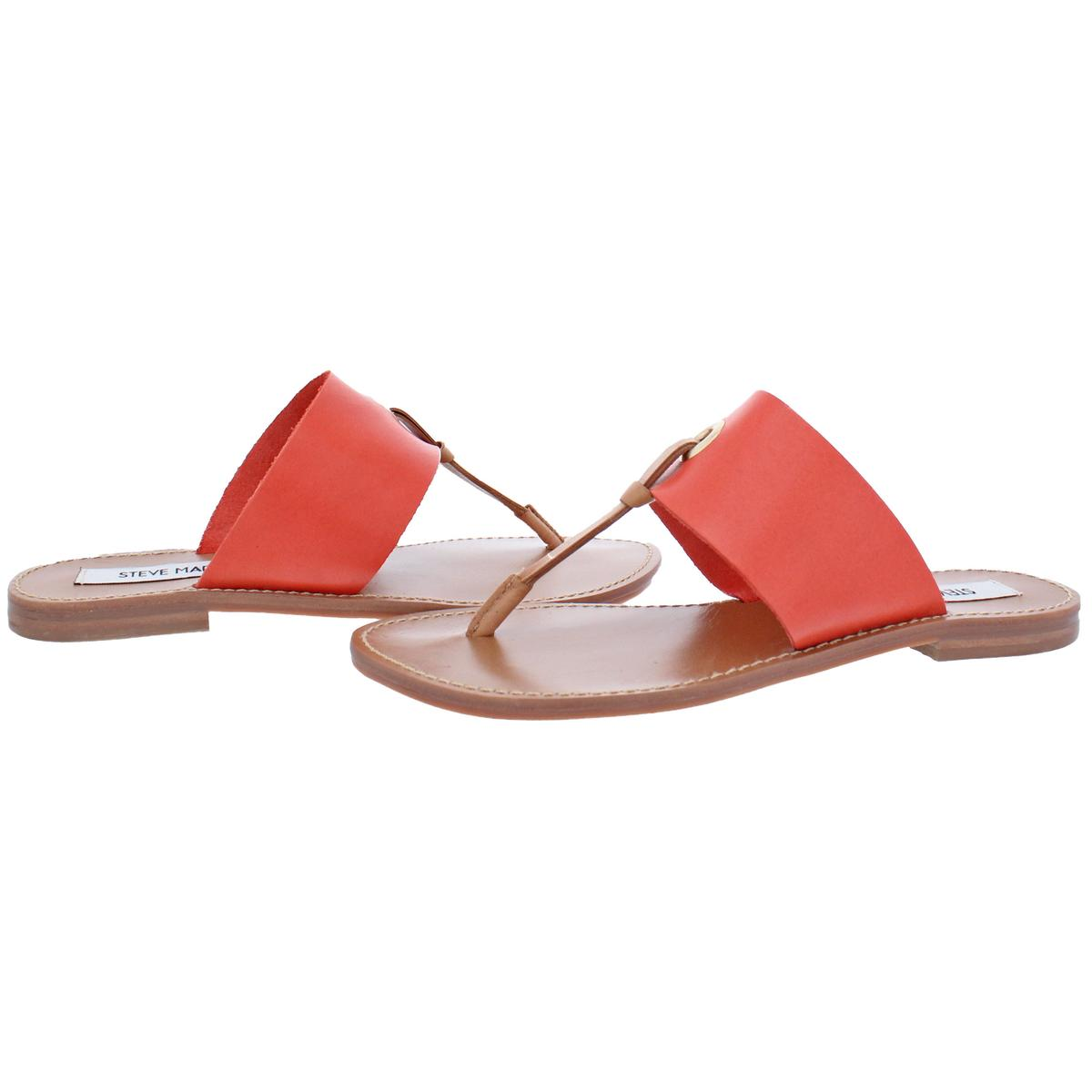 Steve-Madden-Women-039-s-Ringer-Leather-Casual-Thong-Slide-Flat-Sandals-Shoes thumbnail 3
