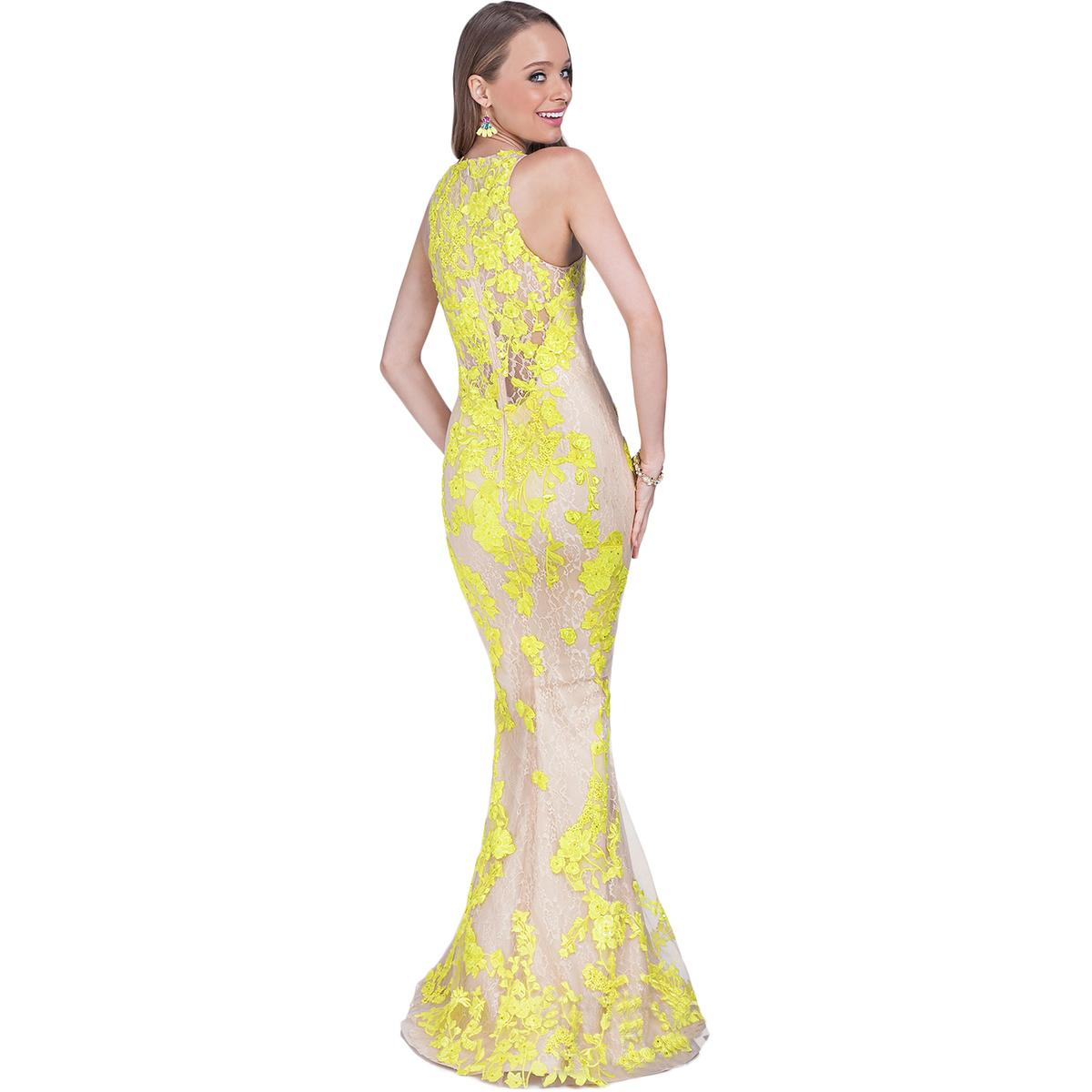 Terani couture embroidered sequined full length