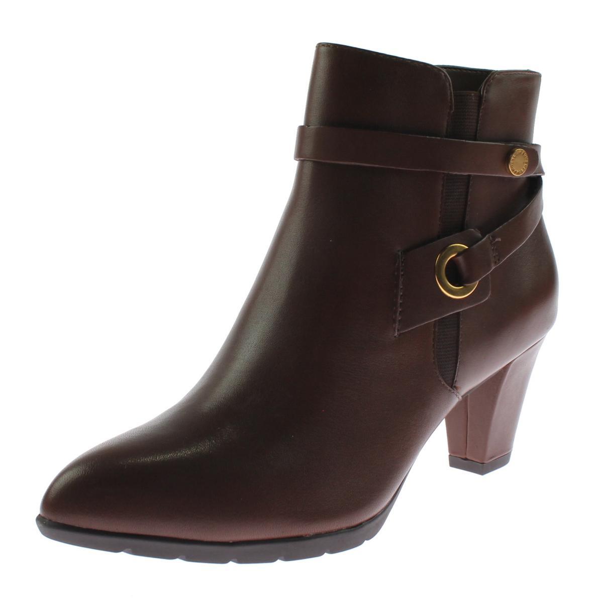 Anne Klein Damenschuhe Chelsey Leder Pumps Ankle Stiefel Schuhes BHFO 2528