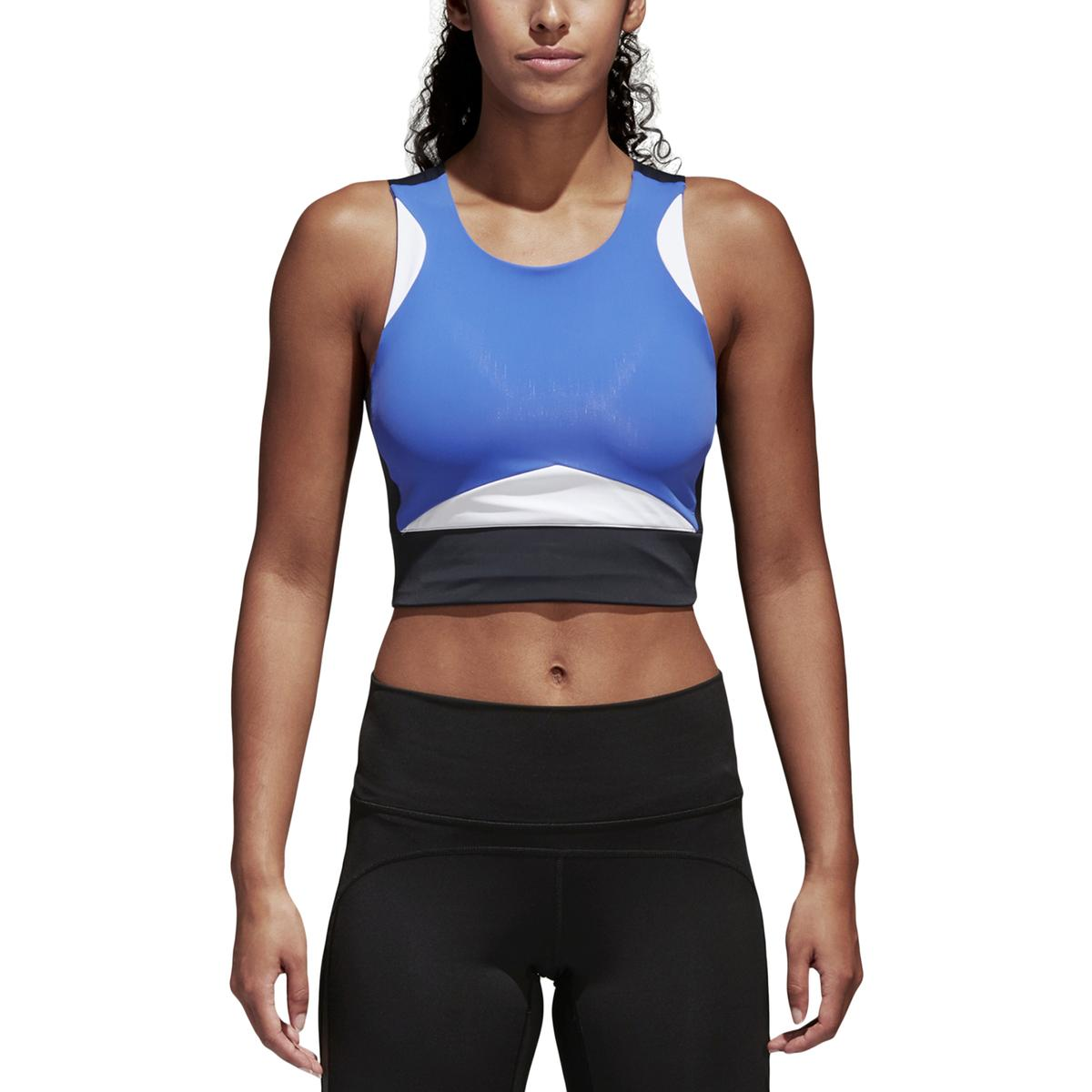 90b5d819c778c Details about Adidas Womens Crop Yoga Tank Sports Bra Athletic BHFO 3744