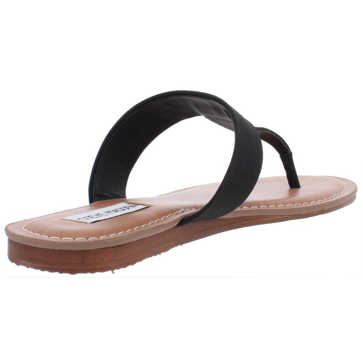 Steve-Madden-Womens-Vacay-Faux-Leather-Thong-Sandals-Flats-Shoes-BHFO-0099 thumbnail 4