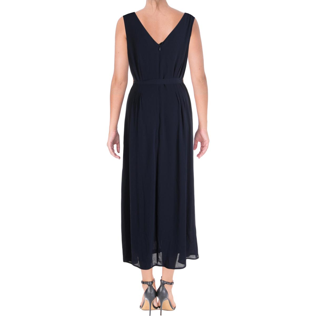 331a1fb7 Maison Jules Womens Navy Fit & Flare Knee-length Casual Dress M BHFO ...