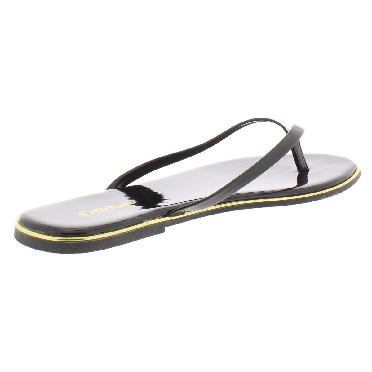 Bebe-Womens-Ilistra-Patent-Slide-Flip-Flops-Shoes-BHFO-7633 thumbnail 4