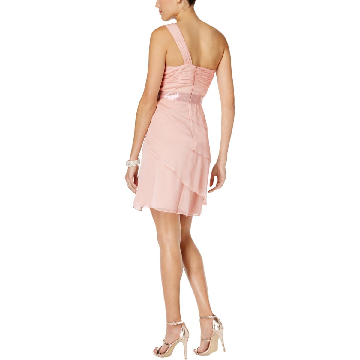 Adrianna-Papell-Womens-Tiered-One-Shoulder-Party-Cocktail-Dress-BHFO-6662 thumbnail 7