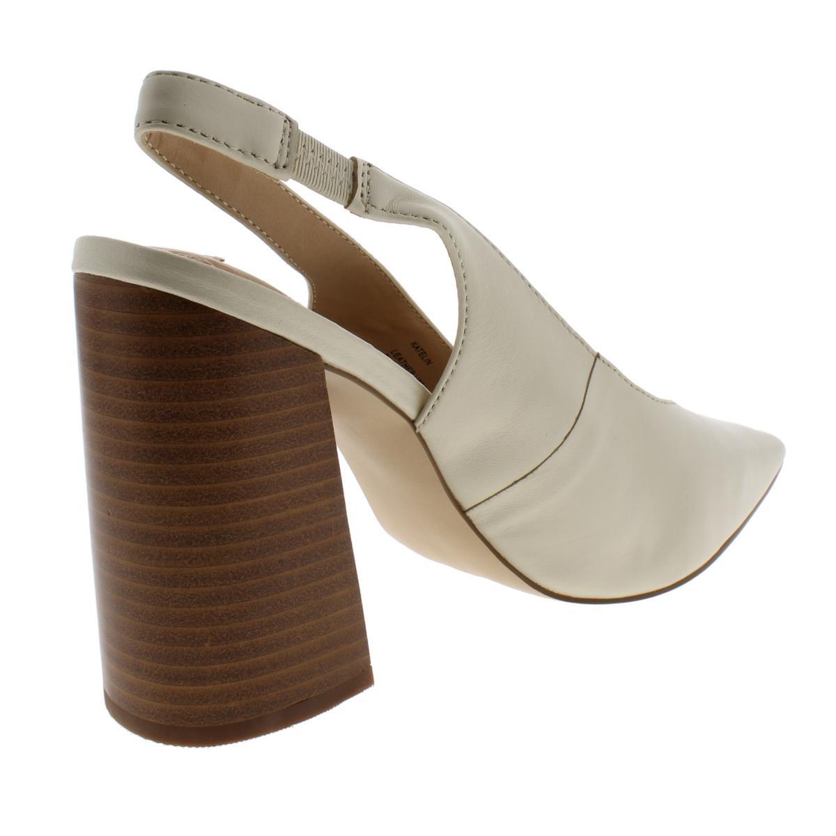 Steve-Madden-Womens-Katelin-Leather-Pointed-Toe-Slingback-Heels-Shoes-BHFO-3798 thumbnail 8
