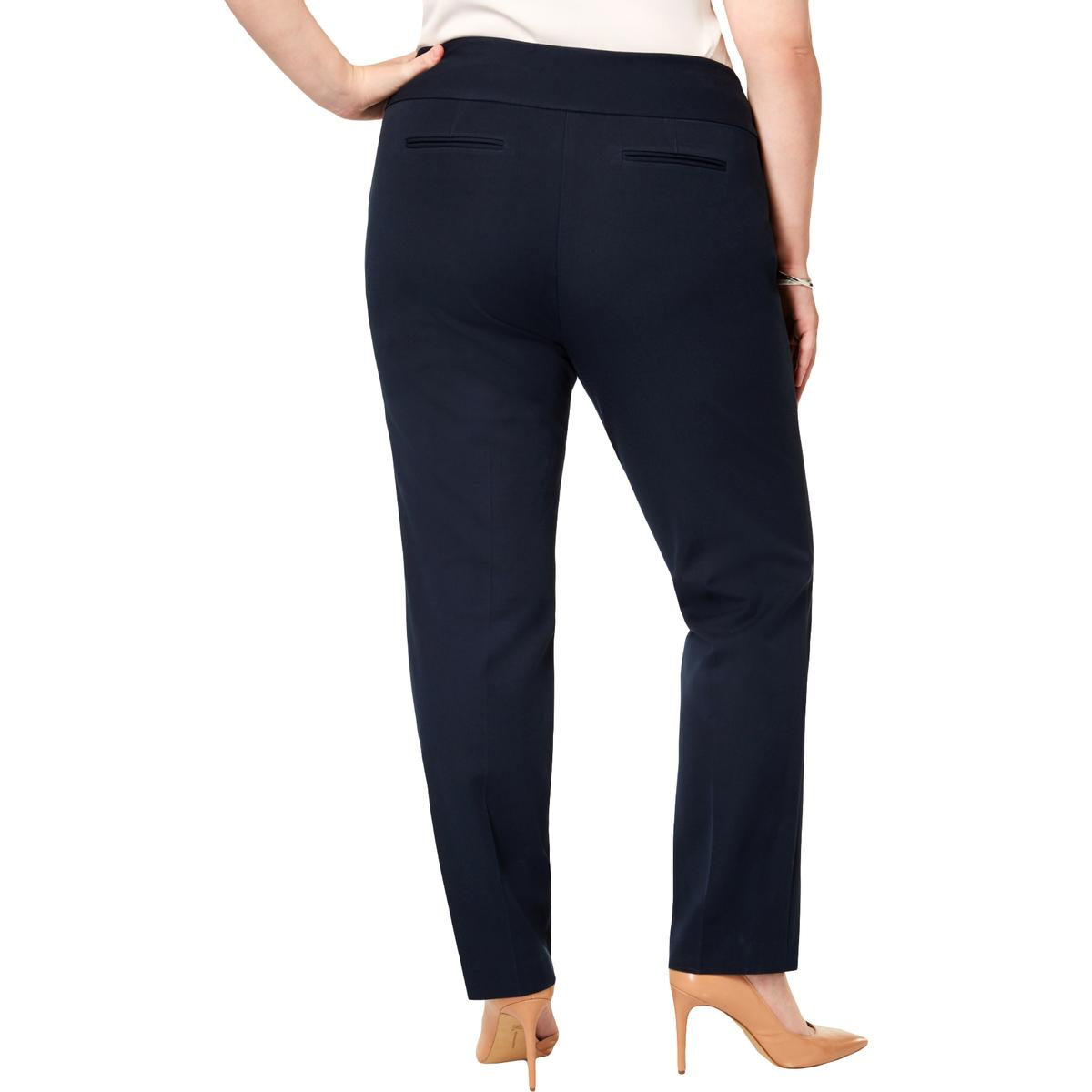 Alfani Womens Solid High Waist Wide Leg Pants Trousers Plus BHFO 5421