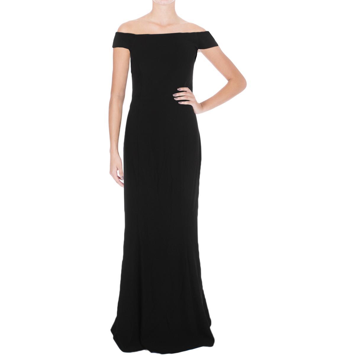 a2b2015ef4d1 Details about Laundry by Shelli Segal Womens Black Criss-Cross back Evening Dress  8 BHFO 2812