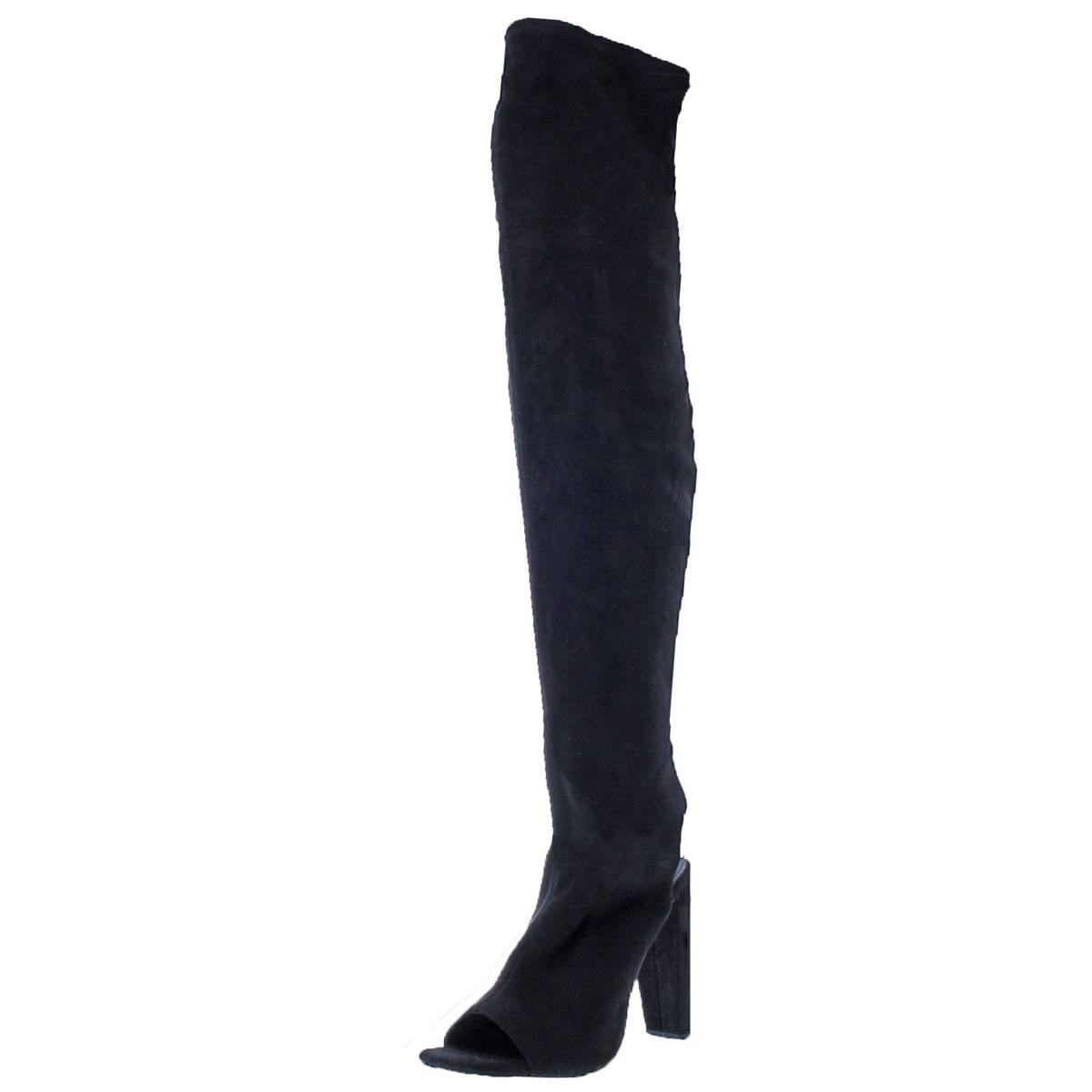 Steve Madden Para Mujer Kimmi Negro Sobre La Rodilla Rodilla Rodilla botas 8 Medio (B, M) BHFO 6604  precio al por mayor