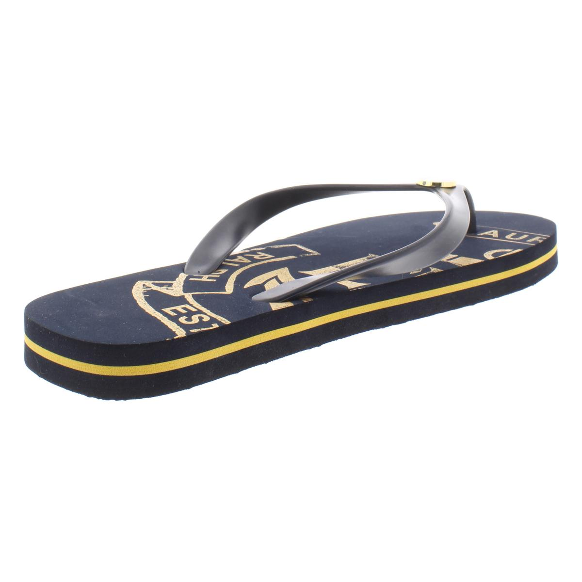 Lauren-Ralph-Lauren-Womens-Elissa-II-Flat-Thong-Flip-Flops-Sandals-BHFO-4857 thumbnail 4