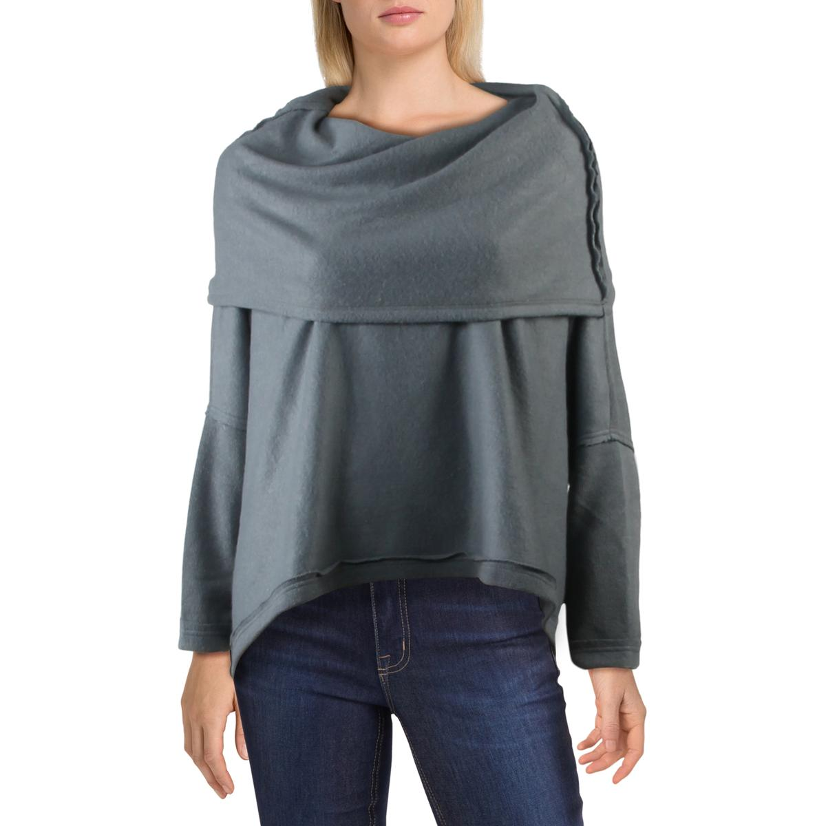 Eileen Fisher Womens Wool Colorblock Crewneck Pullover Sweater Top BHFO 1226