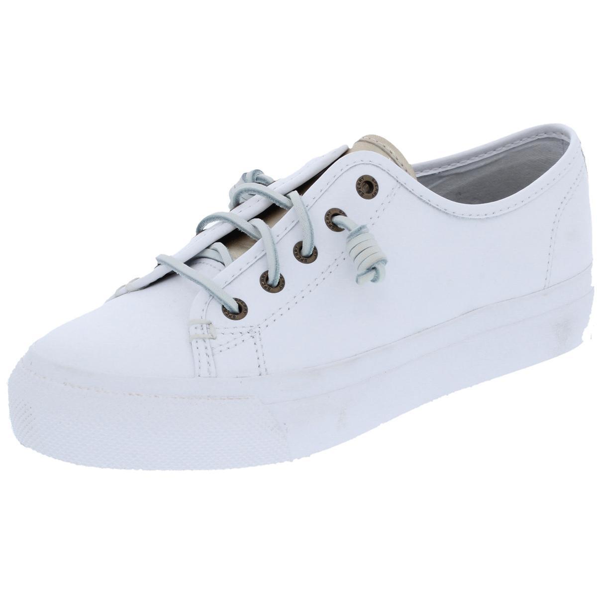 Sperry Womens Sky Sail White Fashion Sneakers Shoes 10 Medium (BM) BHFO 0157
