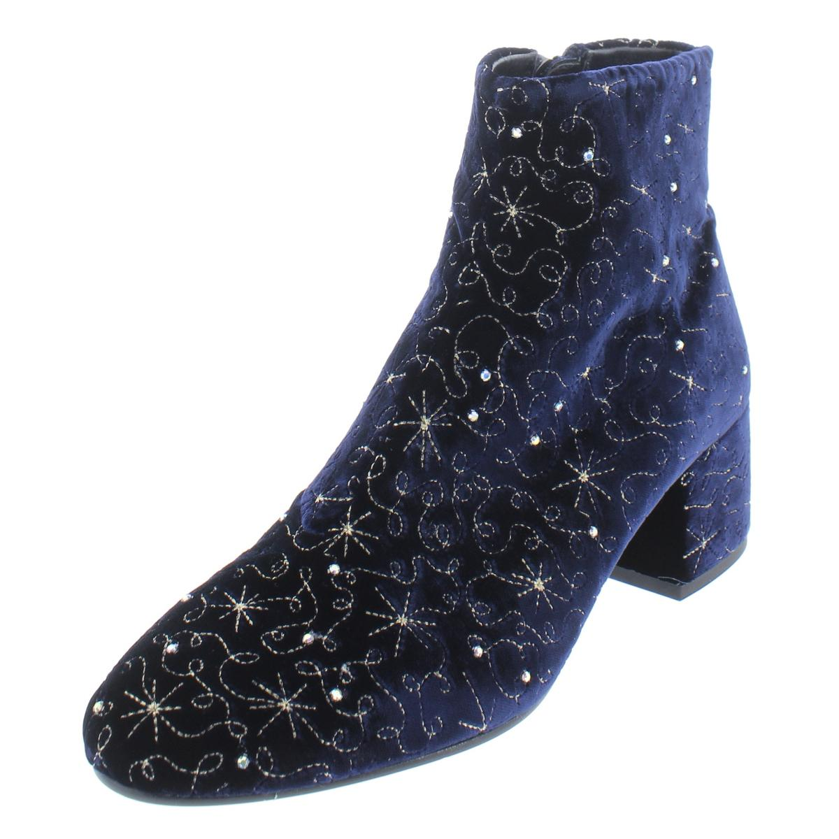 ASH Womens Womens Womens Diamond Bis Embellished Velvet Booties Ankle Boots shoes BHFO 9746 97bd8c