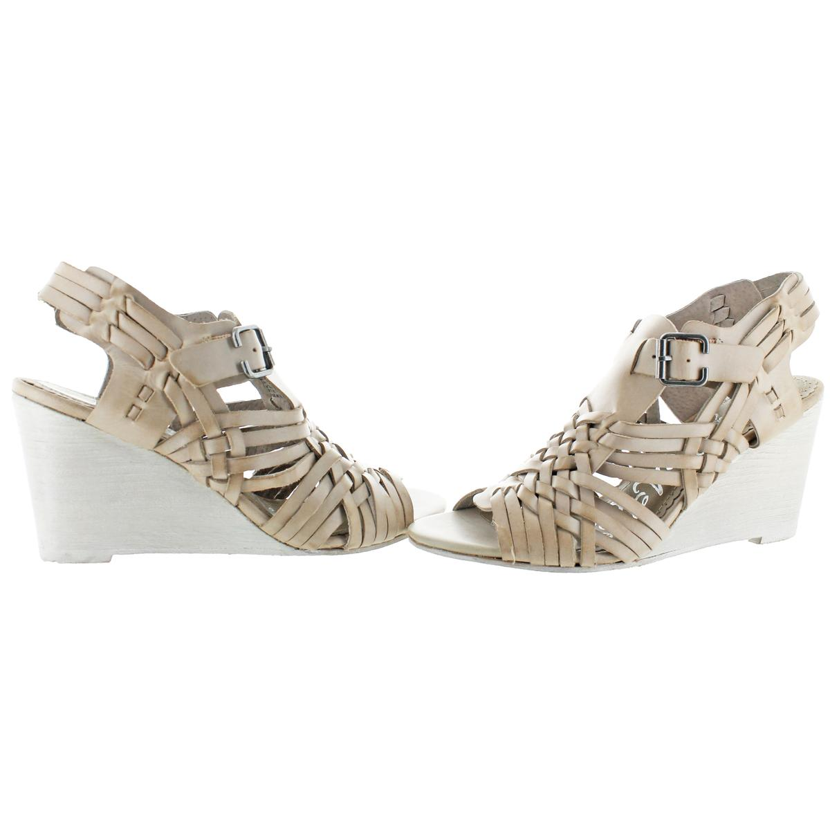 Naughty Monkey Dually Noted Women's Wedge Leather Open Toe Sandals
