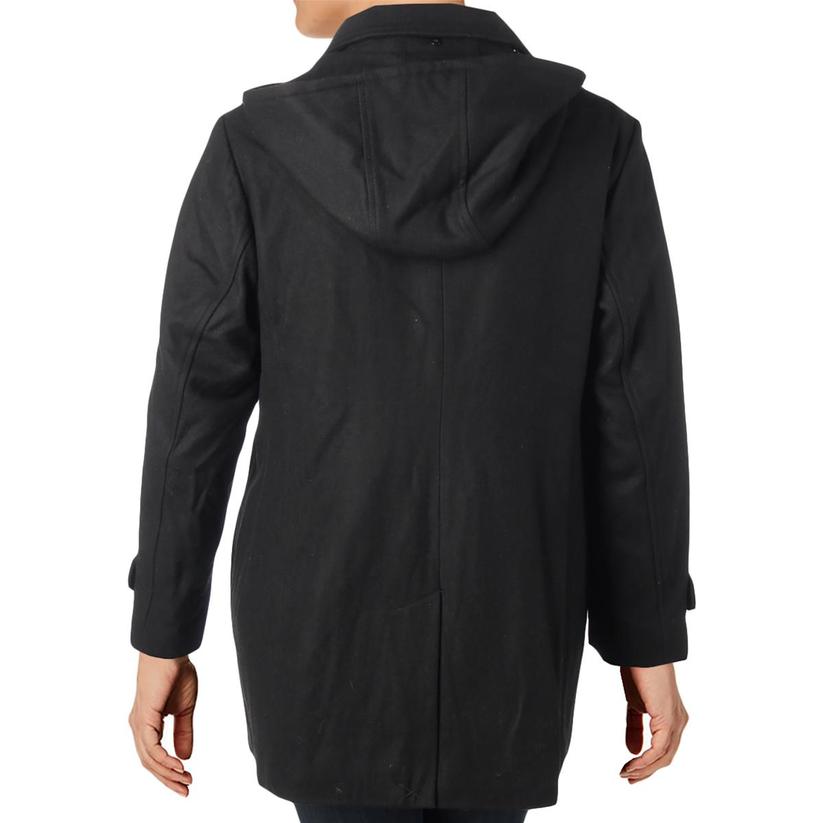 31401aaa71d7 Details about MICHAEL Michael Kors Womens Black Fall Toggle Coat Outerwear  Plus 1X BHFO 5293