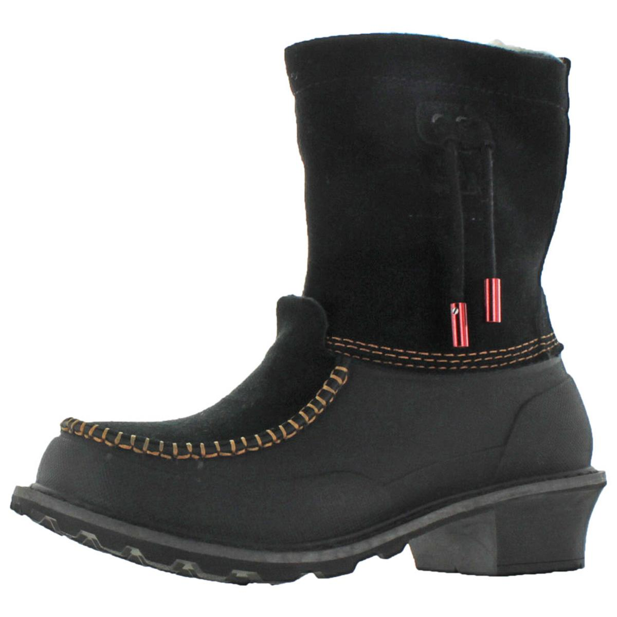 626ed6731884 Details about Woolrich Womens Fully Wooly Slip Black Snow Boots 6.5 Medium  (B