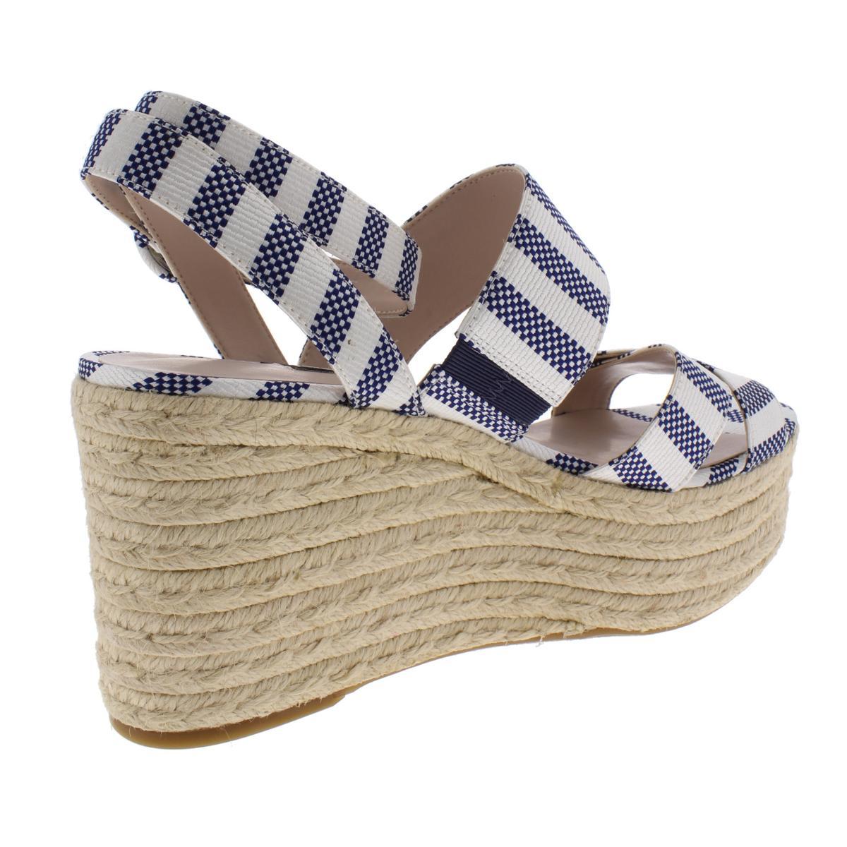 Nine-West-Womens-Kushala-Nubuck-Espadrille-Wedge-Sandals-Shoes-BHFO-7013 thumbnail 4