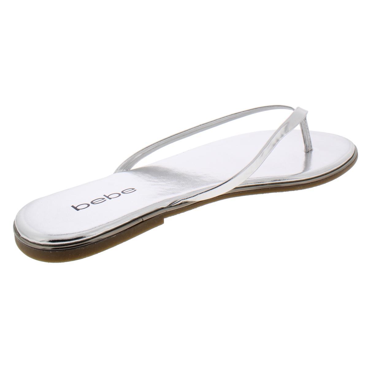 Bebe-Womens-Ilistra-Patent-Slide-Flip-Flops-Shoes-BHFO-7633 thumbnail 8